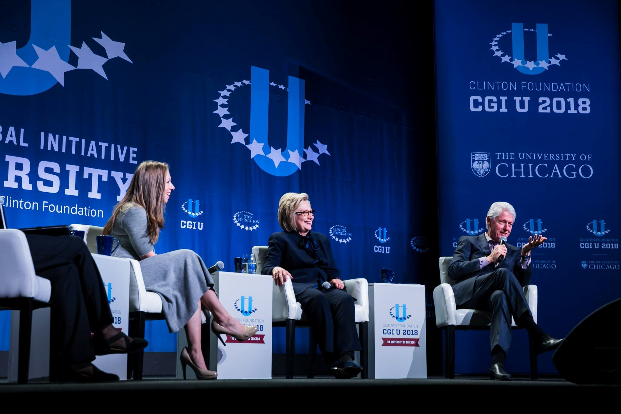 A Panel with the Clinton Family. Photo by Adam Schultz / Clinton Foundation at The University of Chicago