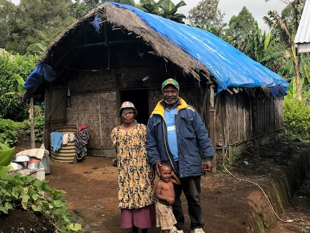 A Digicel solar panel gives this family electricity in Papua New Guinea. Source: Digicel