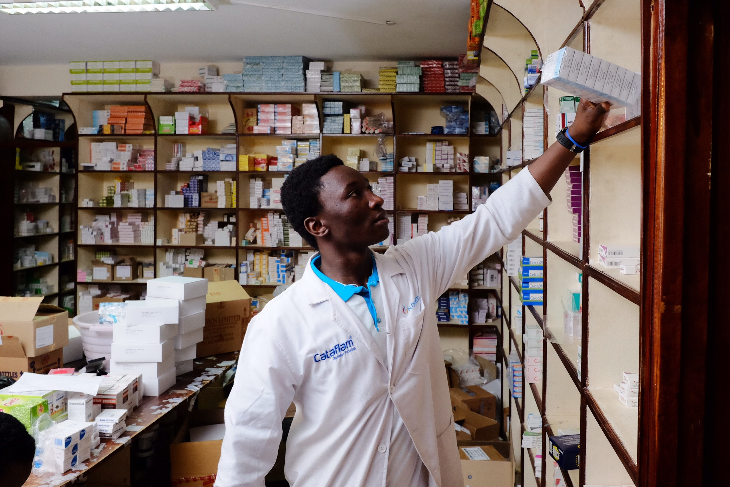 A pharmacist in Kenya. Source: Enabling Sustainable Health Equity (ESHE) Project