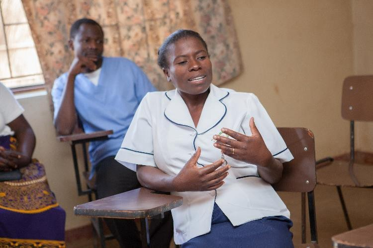 Eness Phiri, a nursing officer at the Mponela Rural Hospital. Credit: Amaru Photography