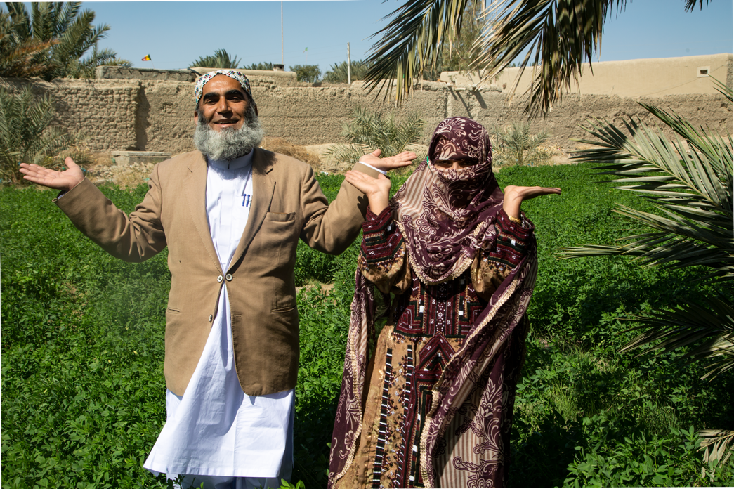 Nusrat Jan and her husband Muhammad Jan. Source: Market Development Facility