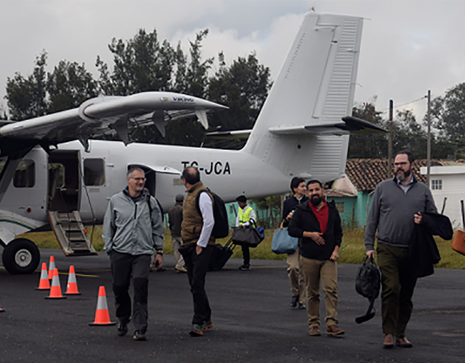 Flights between Guatemala City and Huehuetenango began in November 2018 to facilitate tourism and business, using a Twin Otter 19-seater and a Caravan 12-seater. Source: Marco Mateo/Photo for USAID